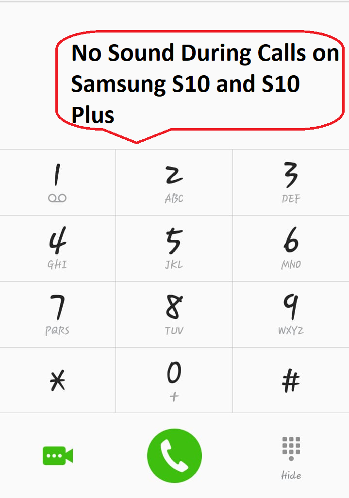 no sound during calls samsung s10