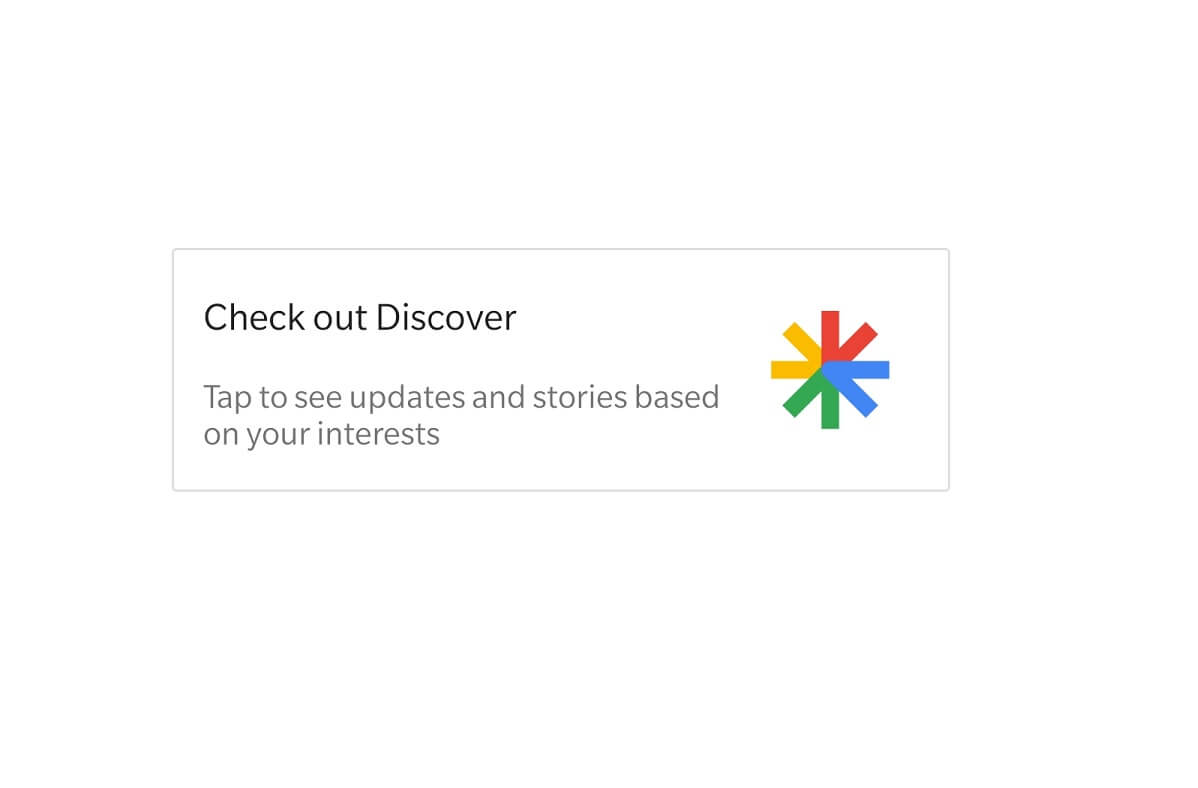 Google Discover Not Working on S10
