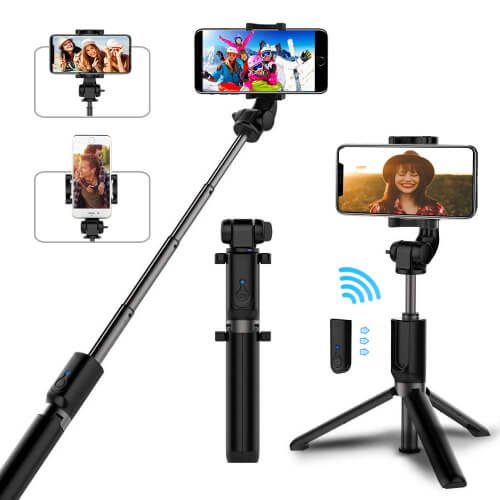 Pobon Selfie Stick and Tripod for Note 10Plus