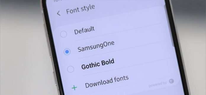 Change font style and font size on Samsung Note 10