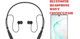 Bluetooth Headphone won't connect to Samsung Note 10