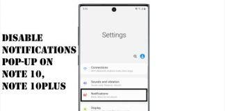 Disable notification pop-ups on Note 10, Note 10Plus