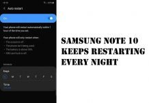 Fix Samsung Note 10 Restarts Every Night