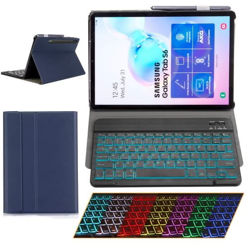 Ultra-Thin Leather Keyboard Case for Galaxy Tab S6 10.5-inch