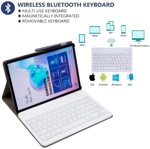 YMH-Detachable Wireless Keyboard with Backlit Colors