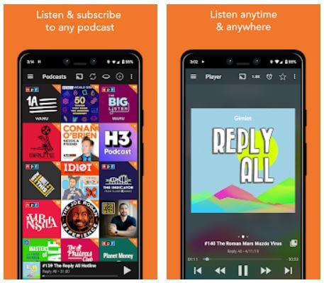 Best Podcast News App for Android