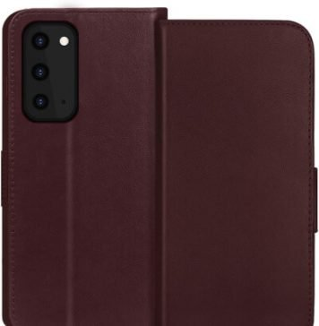 FYY Cowhide Genuine Leather Case for Galaxy S20