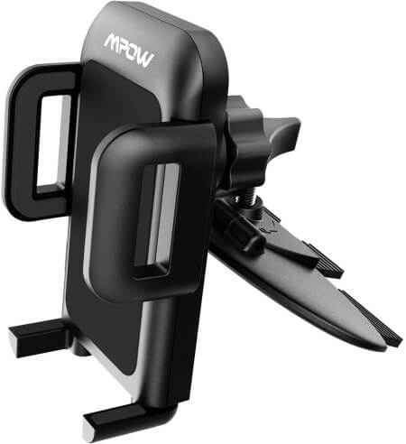 Mpow CD Slot Car Phone Mount under $15