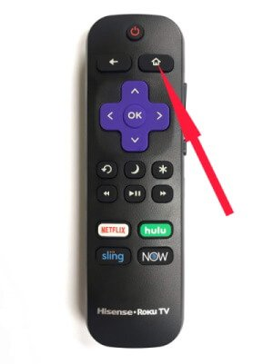 Press Home Button on Roku TV