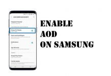 Enable AOD On Samsung S20