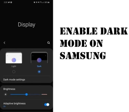 Enable Dark Mode on Galaxy S20Plus, S20, S20Ultra