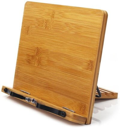 Bamboo CookBook Stand for Tab S6