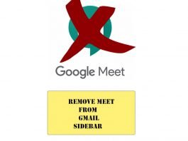 How to Remove Meet from Gmail Sidebar