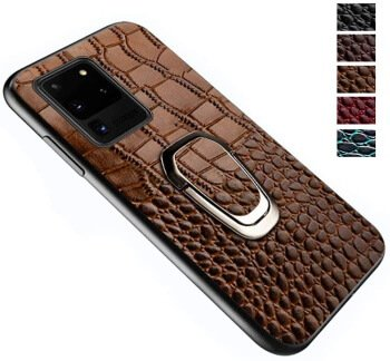 Leather Kickstand Case for Galaxy S20 Ultra