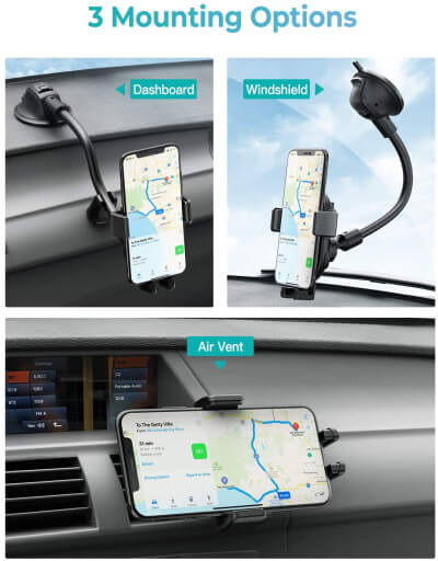 Mpow Phone Mount Wireless Car Charger for Galaxy S20 Ultra