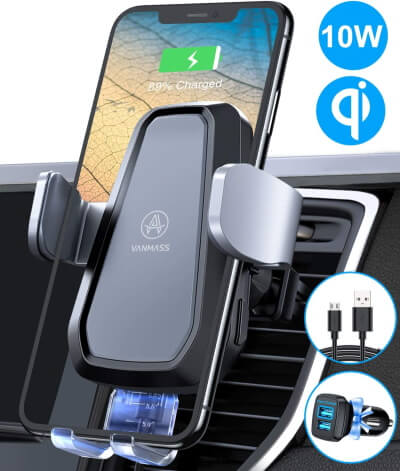 VANMASS Qi Thermostasis Charger for Car