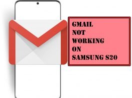 Fix Gmail Not Working on Samsung S20