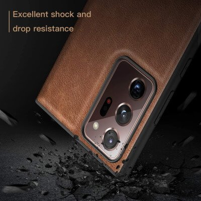 Arkour Back Leather Cover for Samsung Note 20 Ultra