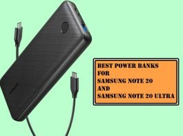 Best Power banks for Samsung Note 20 and Note 20 Ultra