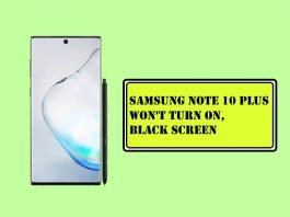 Samsung Note 10 Plus Won't Turn On, Black Screen