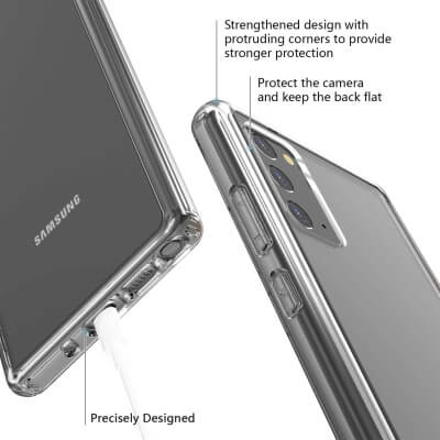 Temdan Ultra Clear Case for Samsung Note 20