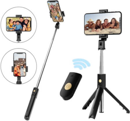 YIBIDINAY Selfie Tripod for Note 20 with Wireless Bluetooth Remote