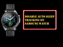 How to Disable Sleep Tracking on Samsung Galaxy Watch