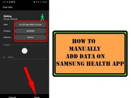 How to Manually Add Step Count and Activities on Samsung Health