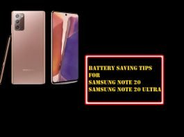 How to Save Battery on Samsung Note 20, and Note 20 Ultra